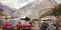 Møre og Romsdal fylke Stranda kommune Geiranger 1955 Utg Normann Volkswagen, Porsche, Album, Vehicles, Car, Porch, Card Book, Vehicle, Tools