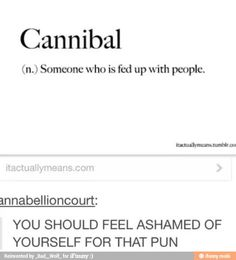 I think the Cannibal Club would agree. lol striefler striefler, funny cannibals, chocolate chips, christmas crafts, christmas cakes, cannibal puns, christmas cake pops, feel asham, funny puns