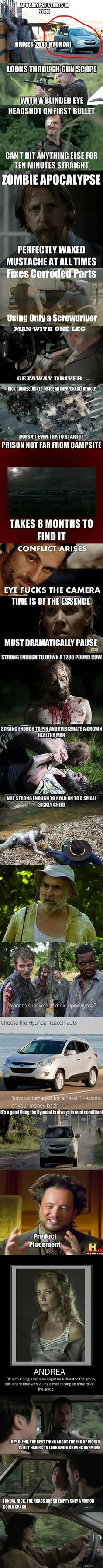 The Most Biting Walking Dead Memes - While I love this show, these are seriously hilarious & true! ;] Oh and let's not forget the baby!
