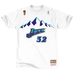 57b10f4cbdc3 ... Jersey Utah Jazz Mens Karl Malone Name Number Tee Utah Jazz - Shop Mitchell  Ness NBA Shirts and Apparel ...