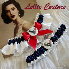 Houston Texans Garters  2pc set by lolliecouture on Etsy, $50.00
