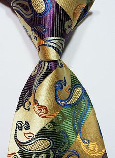 Scott Alone : New Classic Green Purple Paisley New Jacquard Woven Silk Men's Tie Necktie Sharp Dressed Man, Well Dressed Men, 50s Style Men, 1920s Style, Costume En Lin, Style Costume Homme, Purple Blazers, Mens Attire, Mens Fashion Suits