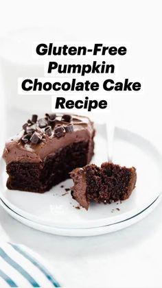 Gluten Free Cupcake Recipe, Gluten Free Bakery, Gluten Free Sweets, Gluten Free Chocolate, Dairy Free Recipes, Gf Recipes, Vegetarian Recipes, Pumpkin Cake Recipes, Cake Mix Recipes