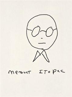 Truman Capote self-portrait