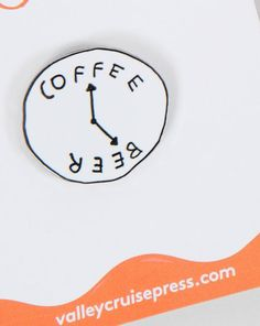 Valley Cruise Press Coffee Beer Clock Pin Badge - Everything - Categories - Womens