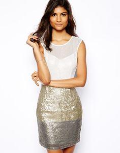 Image 1 ofLipsy Sequin Shift Dress