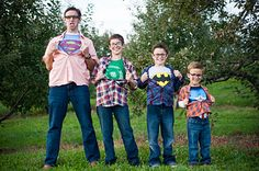 Great idea for a boys family photo
