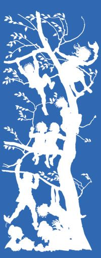 silhouette art. the poetry of childhood
