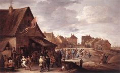 Teniers the Younger, David - Village Feast - Baroque - Genre - Oil on canvas