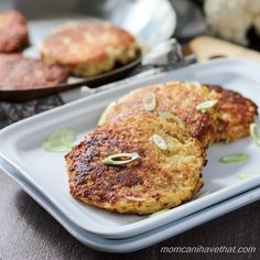 Basic Cauliflower Fritters via @lowcarbmaven