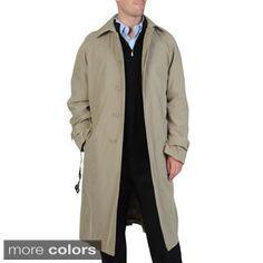 Cianni Cellini Men's 'Renny' Full-length Belted Raincoat