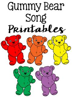 Gummy Bear Song Printable