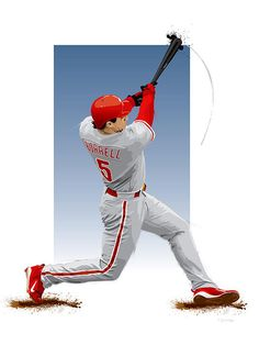 Painting of Phillies outfielder Pat Burrell.