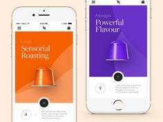 Nespresso — Mobile App by Steve Fraschini - Dribbble