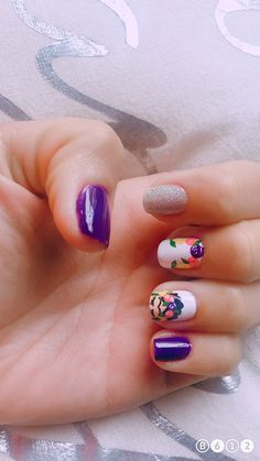 44 Ideas For Fails Design Frida Nailart Cute Nails, Pretty Nails, Linda Nails, Gel Tips, Gelish Nails, Flower Nails, Nail Arts, Summer Nails, Simple Designs