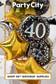 Make this milestone memorable. Shop Party City for birthday party supplies. 40th Birthday Ideas For Men Husband, 40th Birthday Cakes For Men, 40th Birthday Themes, 40th Birthday Decorations, Hubby Birthday, Forty Birthday, Birthday Supplies, Happy Birthday Cards, Party Supplies