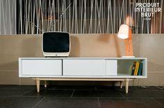 Meuble TV Fjord - Un meuble de rangement lumineux, dans un esprit scandinave rétro  www.produitinterieurbrut.com