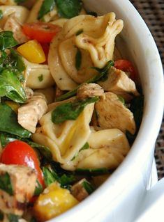 Balsamic Chicken Salad With Tortellini #recipe #salad