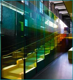 Kvadrat Headquarters: Light and Colored Glass Join Forces to Make Office Space Airy & Vibrant