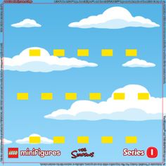 LEGO Minifigures Simpsons Series 1 Background for Ikea Ribba Frame