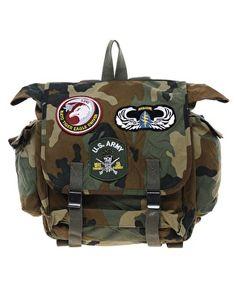 Enlarge Reclaimed Vintage Military Backpack