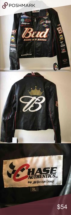 NASCAR women's  leather jacket This amazing leather NASCAR jacket is new with tags and in excellent condition. If you have a NASCAR fan in the family or are one yourself, you can't pass up this great find! Nascar  Jackets & Coats