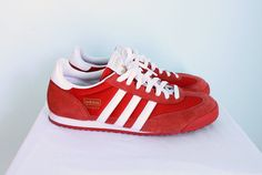 1970's Red Suede Adidas Dragon Sneaker sz 10 by LasCruxes on Etsy, $45.00