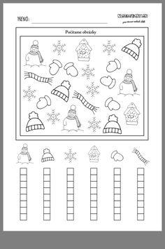 Winter kindergarten worksheets, preschool lessons, preschool activities, winter activities, winter crafts for Kindergarten Math Activities, Preschool Lessons, Winter Activities, Preschool Activities, Math Literacy, Graphing Worksheets, Worksheets For Kids, Winter Crafts For Kids, Math For Kids
