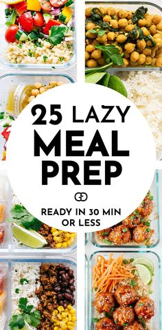 25 YUMMY AND DELICIOUS meal prep ideas for the week, healthy and super easy to make for beginners! These recipe ideas ready in 30 minutes or less! So good to prep for breakfast, lunch, and dinner! Lunch Meal Prep, Easy Meal Prep, Healthy Meal Prep, Healthy Breakfast Recipes, Healthy Foods To Eat, Lunch Recipes, Healthy Eating, Healthy Recipes, Easy Lean Meals