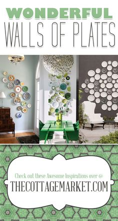 25 Wonderful Walls of Plates DIY Projects - The Cottage Market