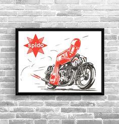 Affiche SPIDO 1948 - Garage Atelier Vintage - Limited Edition