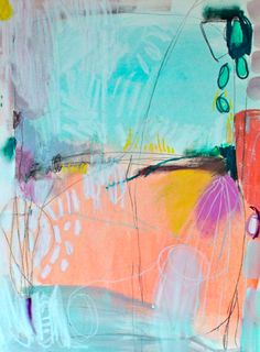 cancel the show 18 x 24 acrylic, oil pastel, chalk pastel and charcoal on paper.