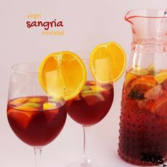 Virgin Sangria Mocktail Recipe - the perfect nonalcoholic beverage for your holiday get-together. This citrus-cranberry twist is perfect for the holidays, too