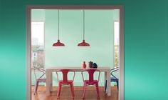 "Valspar Pantone ""Bay"" -- the light mint -- for our utility/laundry room"