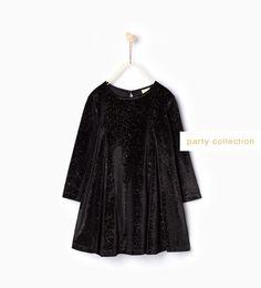 ZARA - KIDS - Shiny velvet dress