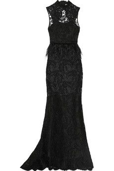 Alice + Olivia Jessica embellished lace gown   NET-A-PORTER