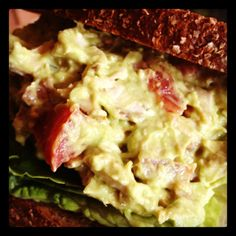 Chicken Salad with avocado (no mayo!), applewood smoked bacon & diced ...