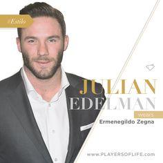 Julian Edelman wears Ermenegildo Zegna