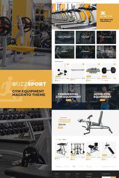 Magento Template , BuzzSport - Gym Equipment