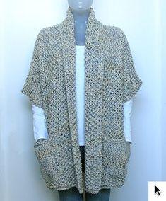 Gehaakt Mouwloos Vestje Met Sjaalkraag Kleding Haken Crochet En Vest