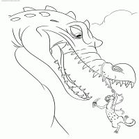 Rudy and Buck - Coloring page сartoon: Ice Age 3: Dawn of the Dinosaurs