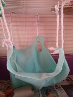 Cute easy to make guinea pig hammock for your best friend.