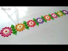 Easy and small border rangoli design🔥 Simple Rangoli Border Designs, Rangoli Borders, Rangoli Designs Flower, Free Hand Rangoli Design, Small Rangoli Design, Colorful Rangoli Designs, Rangoli Ideas, Rangoli Designs Diwali, Diwali Rangoli