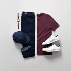 Men Casual T-Shirt Outfit 🖤 Very Attractive Casual Outfit Grid, Business Outfit Herren, Stylish Men, Men Casual, Stylish Clothes, Casual Attire, Men Clothes, Casual Wear, Best Smart Casual Outfits, Sneakers Fashion