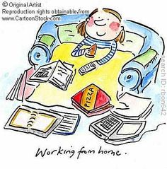 Working from Home. by Brooks, Rosie