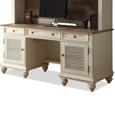 Coventry Two Tone Shutter Door Credenza by Riverside Furniture