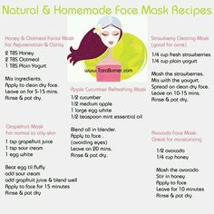 Home made face masks