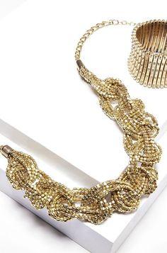 Statement braided necklace