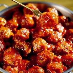 Sweet & Sour Meatballs #football #food could make with chicken or veggie meatballs :)