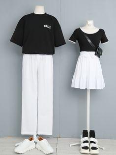 Korea Fashion, Kpop Fashion, Kawaii Fashion, Girl Fashion, Fashion Outfits, Fashion Design, Cute Couple Outfits, Cool Outfits, Aesthetic Fashion